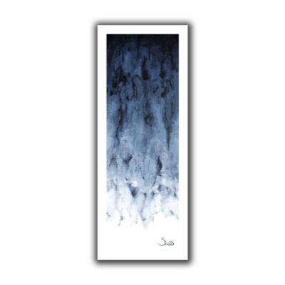 Brushstone Black Watery Canvas Wall Art
