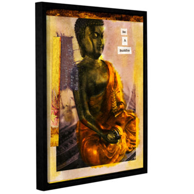Brushstone Be a Buddha Gallery Wrapped Floater-Framed Canvas Wall Art