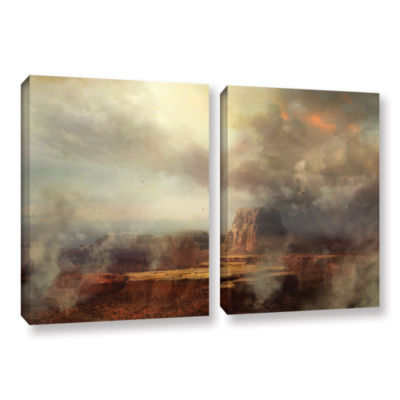 Brushstone Before the Rain 2-pc. Gallery Wrapped Canvas Wall Art