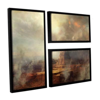 Brushstone Before the Rain 3-pc. Flag Floater Framed Canvas Wall Art