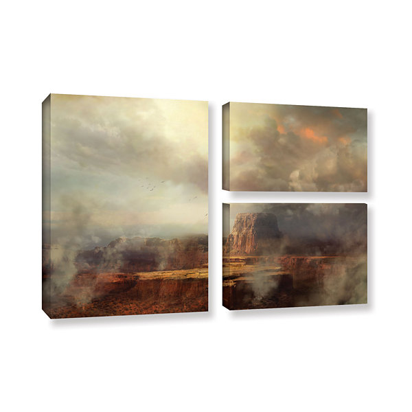 Brushstone Before the Rain 3-pc. Flag Gallery Wrapped Canvas Wall Art