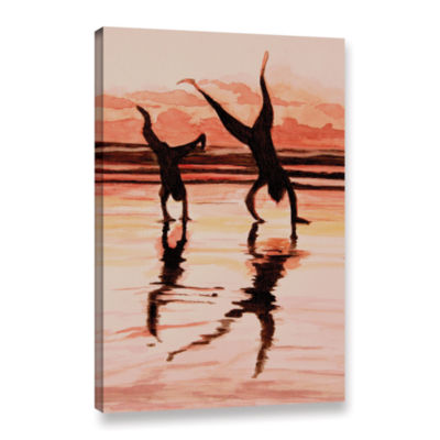 Brushstone Beach Buddies Handstand Gallery WrappedCanvas Wall Art