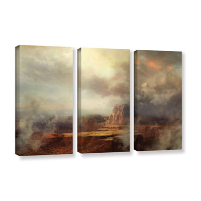 Brushstone Before the Rain 3-pc. Gallery Wrapped Canvas Wall Art