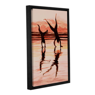 Brushstone Beach Buddies Handstand Gallery WrappedFloater-Framed Canvas Wall Art