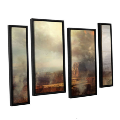 Brushstone Before the Rain 4-pc. Floater Framed Staggered Canvas Wall Art