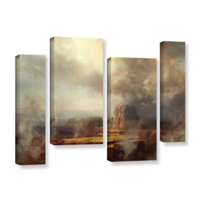Brushstone Before the Rain 4-pc. Gallery Wrapped Staggered Canvas Wall Art