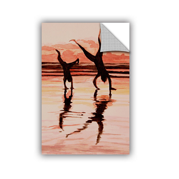 Brushstone Beach Buddies Handstand Removable WallDecal
