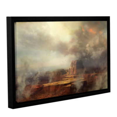 Brushstone Before the Rain Gallery Wrapped Floater-Framed Canvas Wall Art