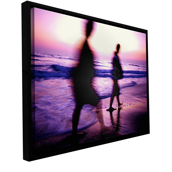 Brushstone Beach Combers Gallery Wrapped Floater-Framed Canvas Wall Art