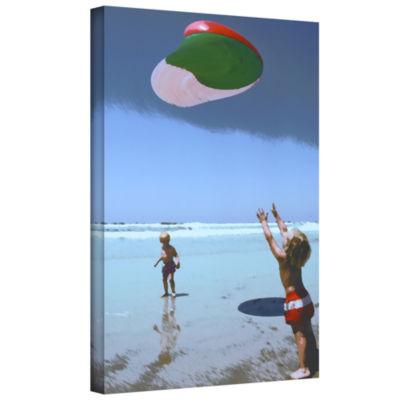 Brushstone Beach Day 2 Gallery Wrapped Canvas WallArt