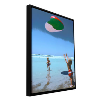 Brushstone Beach Day 2 Gallery Wrapped Floater-Framed Canvas Wall Art