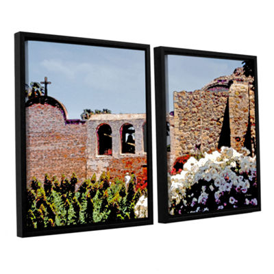 Brushstone Bells of Mission San Juan Capistrano 2-pc. Floater Framed Canvas Wall Art