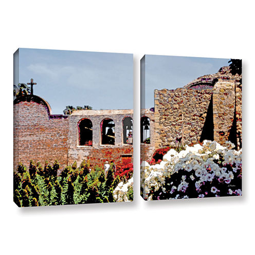Brushstone Bells of Mission San Juan Capistrano 2-pc. Gallery Wrapped Canvas Wall Art