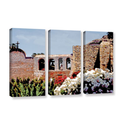 Brushstone Bells of Mission San Juan Capistrano 3-pc. Gallery Wrapped Canvas Wall Art