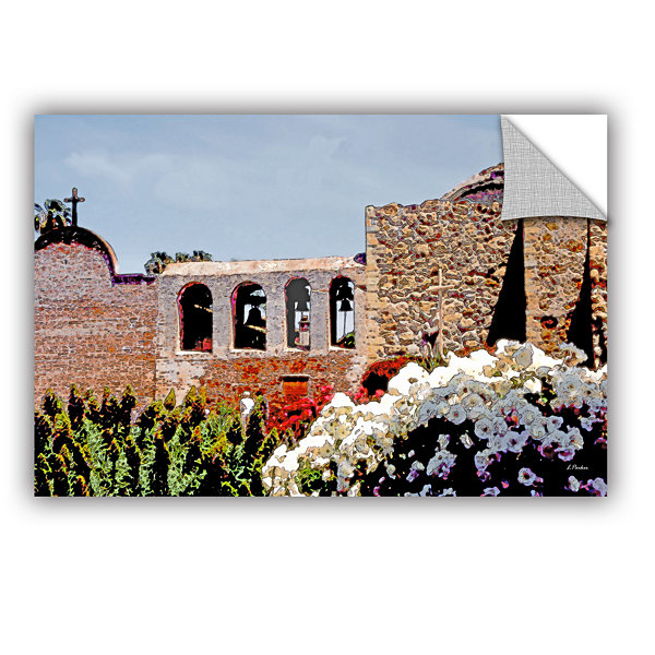 Brushstone Bells of Mission San Juan Capistrano Removable Wall Decal
