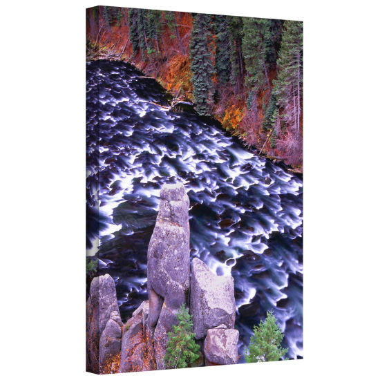 Brushstone Below the Falls Gallery Wrapped CanvasWall Art