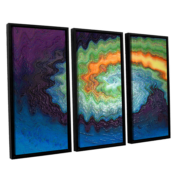 Brushstone Awuanna 3-pc. Floater Framed Canvas Wall Art