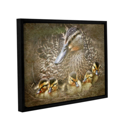 Brushstone Baby Ducks Gallery Wrapped Floater-Framed Canvas Wall Art