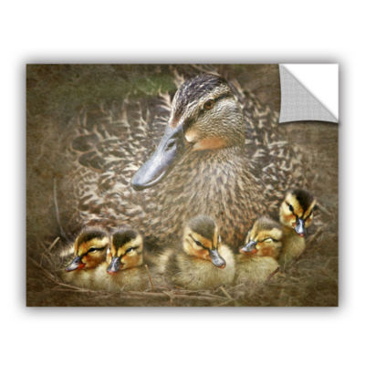 Brushstone Baby Ducks Removable Wall Decal