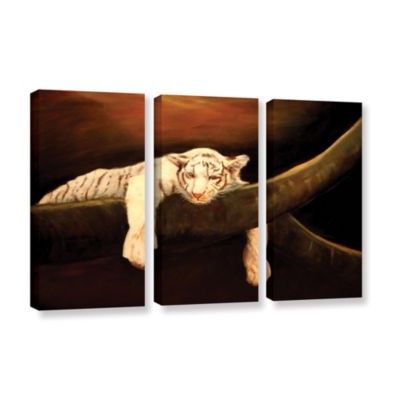 Brushstone Baby Tiger 3-pc. Gallery Wrapped CanvasWall Art