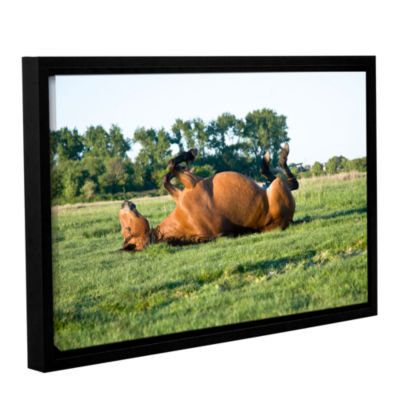 Brushstone Back Scratching Gallery Wrapped Floater-Framed Canvas Wall Art
