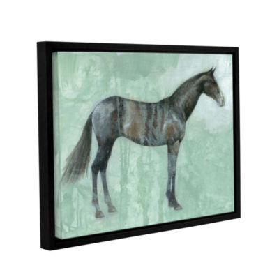 Brushstone Black Beauty Gallery Wrapped Floater-Framed Canvas Wall Art