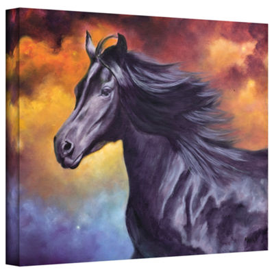 Brushstone Black Thunder Gallery Wrapped Canvas Wall Art