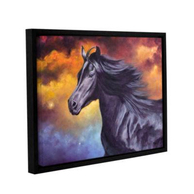 Brushstone Black Thunder Gallery Wrapped Floater-Framed Canvas Wall Art