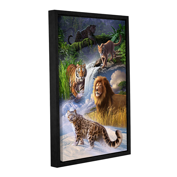 Brushstone Big Cats Gallery Wrapped Floater-FramedCanvas Wall Art