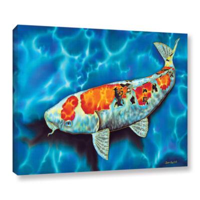 Brushstone Big Fat Koi Gallery Wrapped Canvas Wall Art