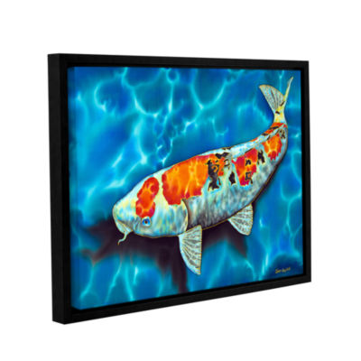Brushstone Big Fat Koi Gallery Wrapped Floater-Framed Canvas Wall Art