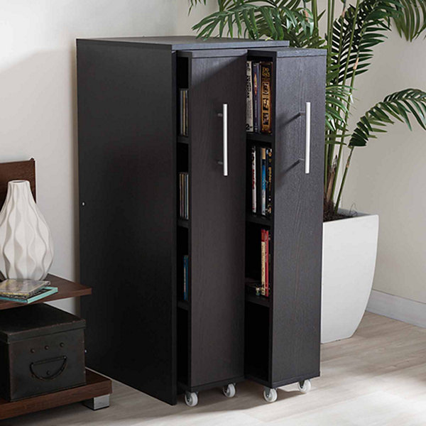 Baxton Studio Lindo 2-Door Bookshelf