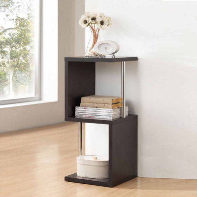 Baxton Studio Lindy 2-Tier Bookshelf