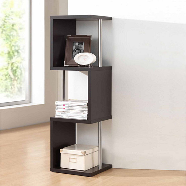 Baxton Studio Lindy 3-Tier Bookshelf