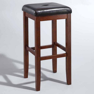 Upholstered Square Seat Barstool - Set of 2