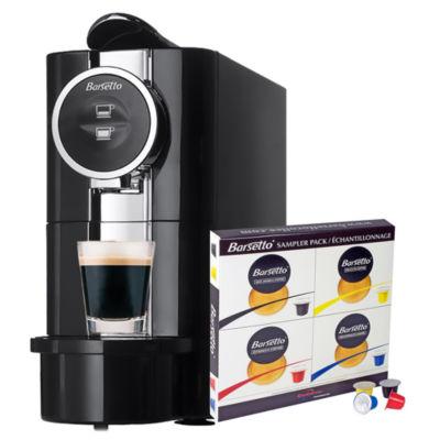 Barsetto Espresso Machine + Samplet Of 4 Flavours 5 Pod Ea