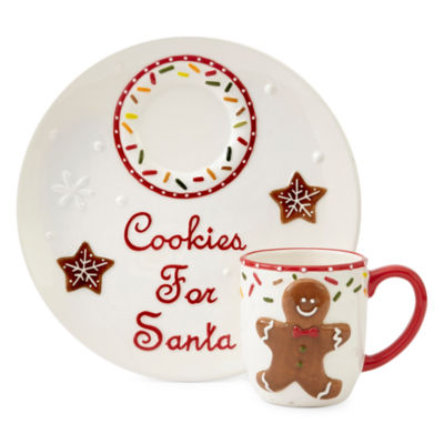 North Pole Trading Co. Gingerbread Serving Plate and Cup