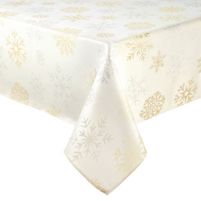 North Pole Trading Co. Falling Snow Tablecloth