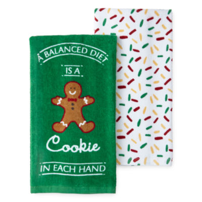 North Pole Trading Co. Gingerbread Cookie 2-pc. Kitchen Towel