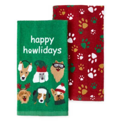 North Pole Trading Co. Happy Howlidays 2-pc. Kitchen Towel