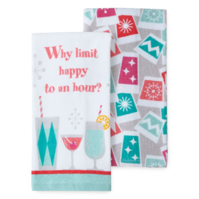 North Pole Trading Co. Happy Hour 2-pc. Kitchen Towel