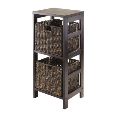 Winsome Granville Storage Shelf with 2 Foldable Baskets
