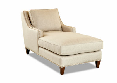 Darcy Nailhead Trim Chaise Lounge