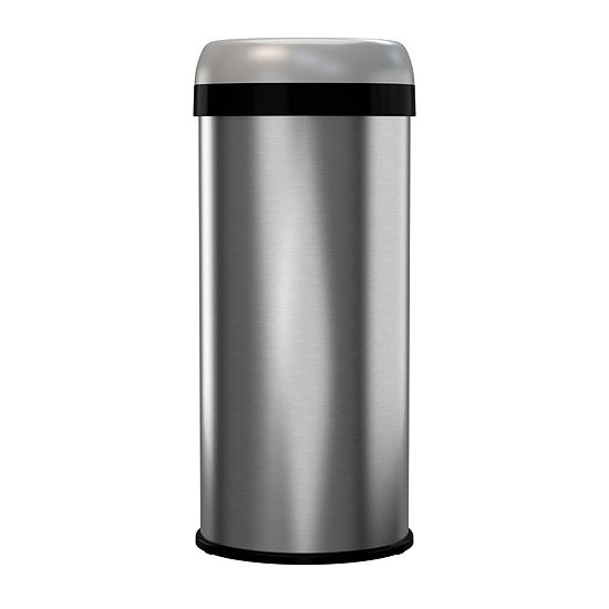halo™ Commercial Grade Dual-Deodorizer Fingerprint-Proof Stainless Steel Trash Can, 60 Liter / 16 Gallon