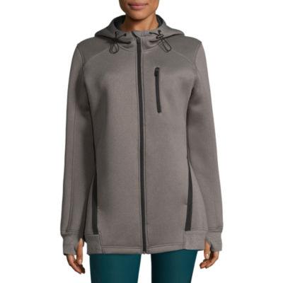 Xersion Hooded Air Layer Lightweight Fleece Jacket