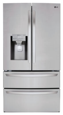 LG ENERGY STAR® 27.8 cu.ft. Smart Wi-Fi Enabled 4-Door French Door Refrigerator
