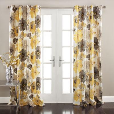 Lush Decor Leah Room Darkening Curtain Panel