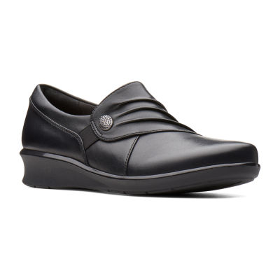 Clarks Womens Hope Roxanne Slip-On Shoes Slip-on Closed Toe