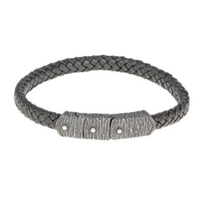 Mens Stainless Steel Wrap Bracelet