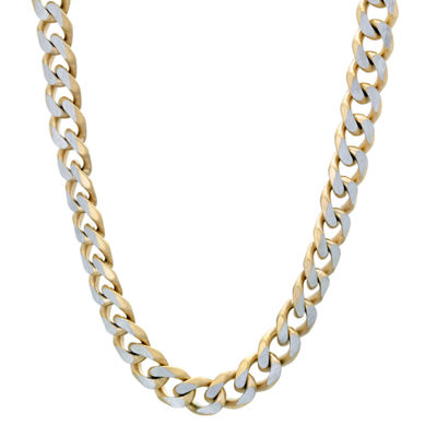 Stainless Steel 30 Inch Solid Curb Chain Necklace